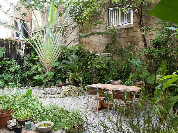 浮島ガーデンの庭