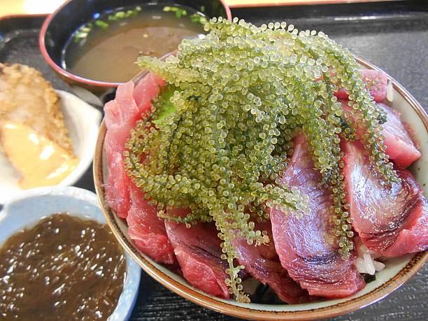 カツオがたっぷりと乗ったカツオ丼(700円)