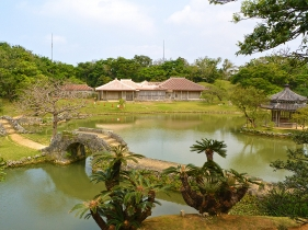 識名園の庭園