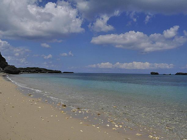 天然ビーチのムルク浜