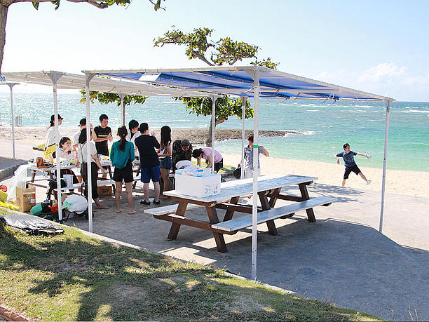 ビーチBBQは沖縄の風物詩