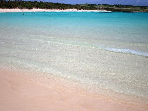 渡口の浜 透明度の高い海水