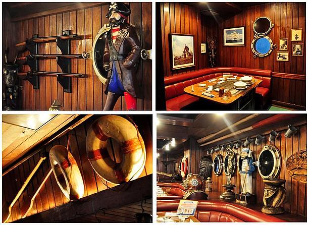 海賊を髣髴とさせる装飾