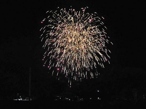 祭りの締めの花火