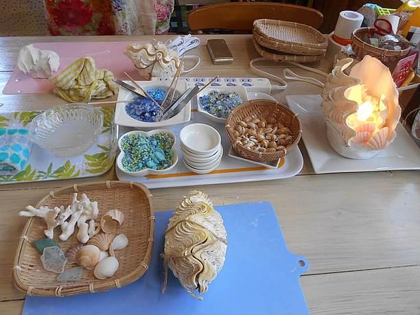 MOKUPUNIで使用するシャコ貝は、宮古島産の天然のもの