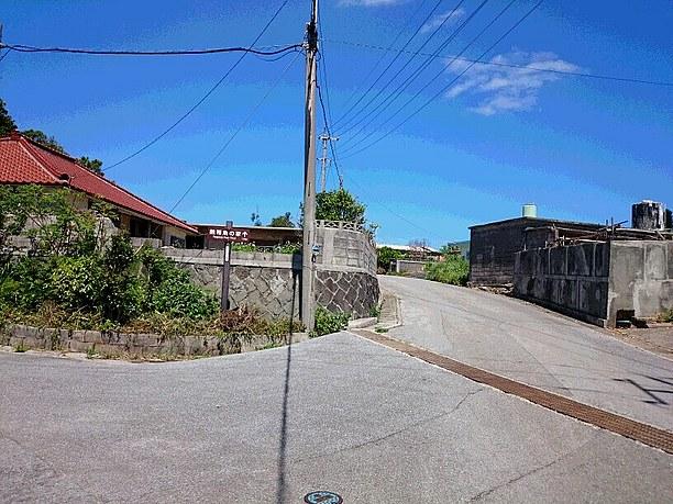 「熱帯魚の家」の案内板道に沿って進む
