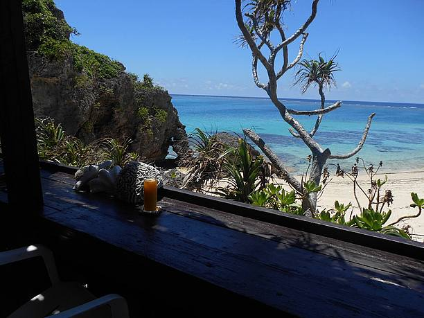 ハート岩の無料の休憩所のマンゴージュース(500円)