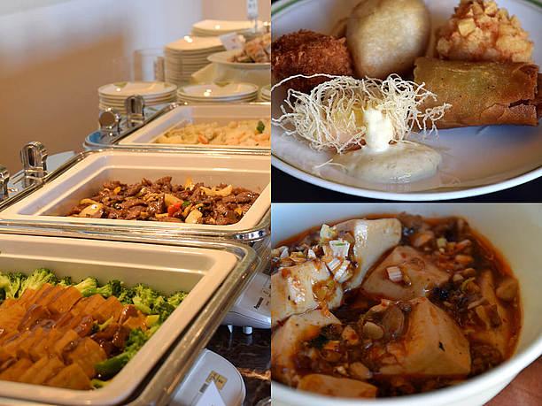 本格的中華料理がならぶ