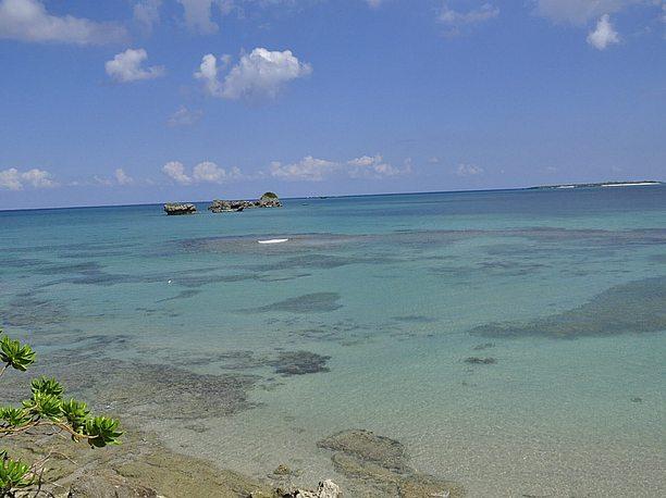 浜比嘉島リゾートホテル前にあるビーチ