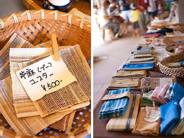 八重山上布(じょうふ)を中心とした織物商品