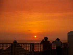 展望台から観る夕陽
