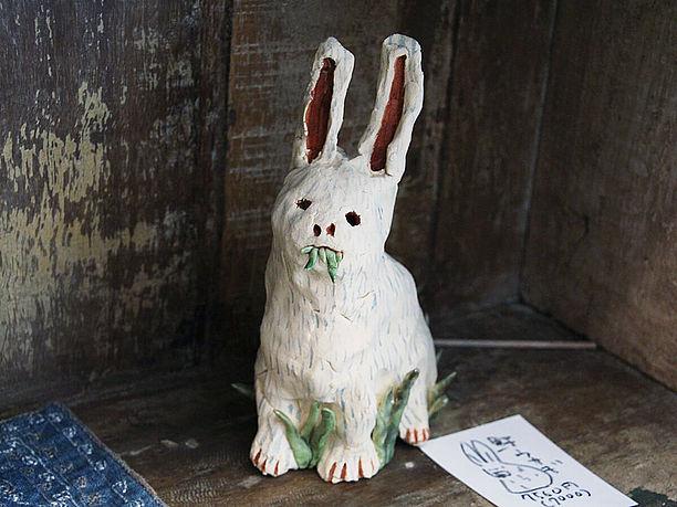 野ウサギの焼き物