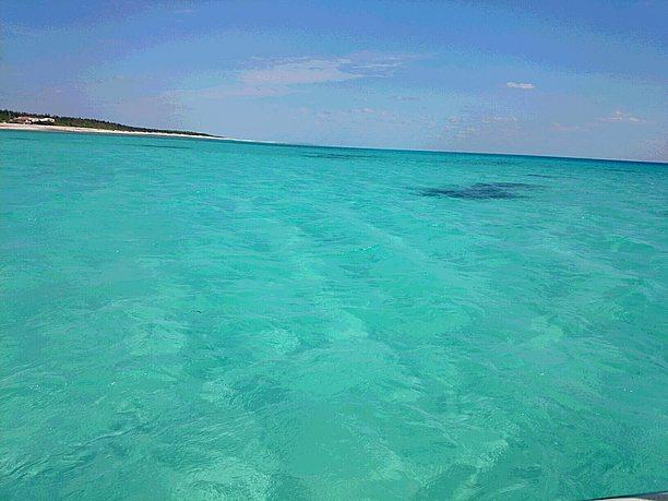 ハテの浜に到着するまでの海