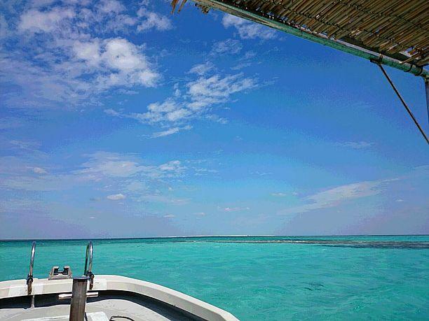 船から見る美しい海