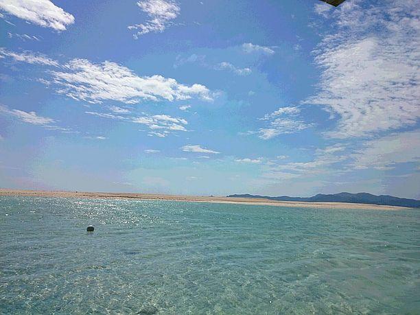 ハテの浜の海と浜辺