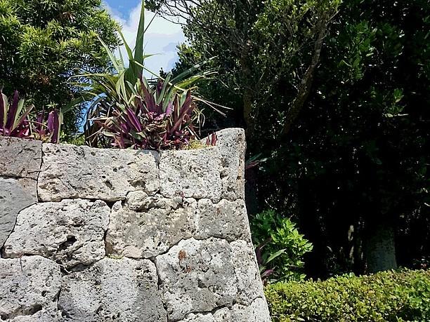 突起状になっている石垣の隅