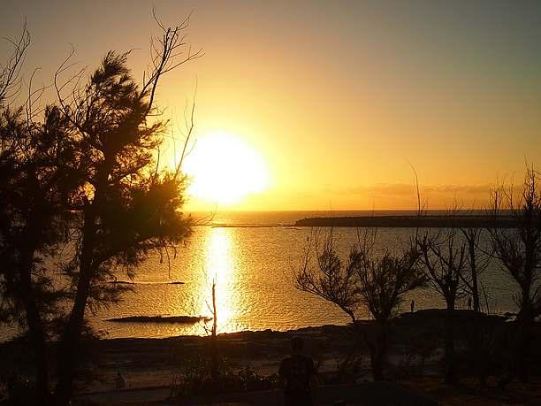 大原シンリ浜の夕日