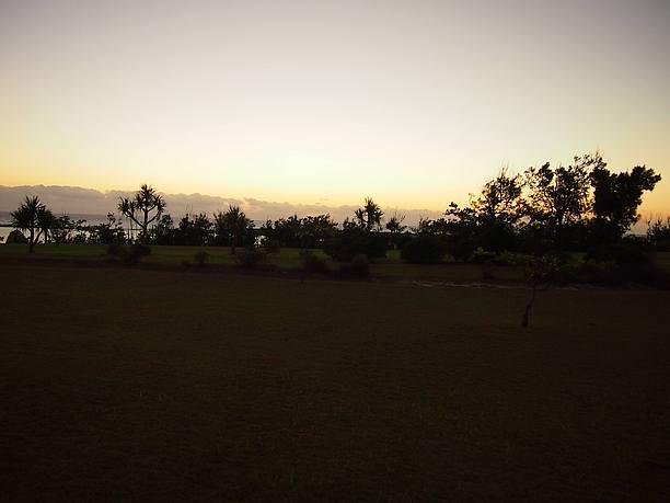 夕日が沈んだ後の静けさ