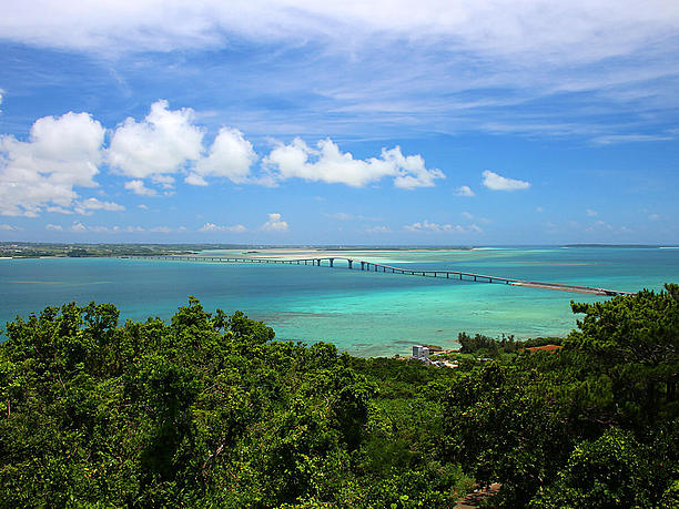 青い海と空の眺め