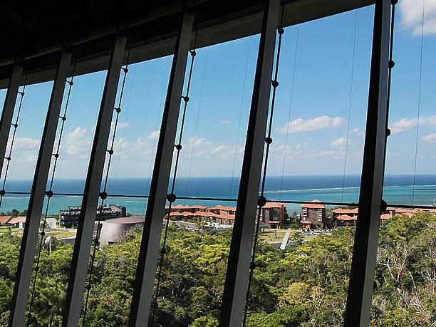 窓から見える西海岸の景色
