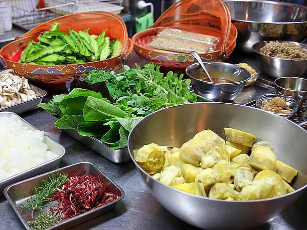 料理教室で使う食材