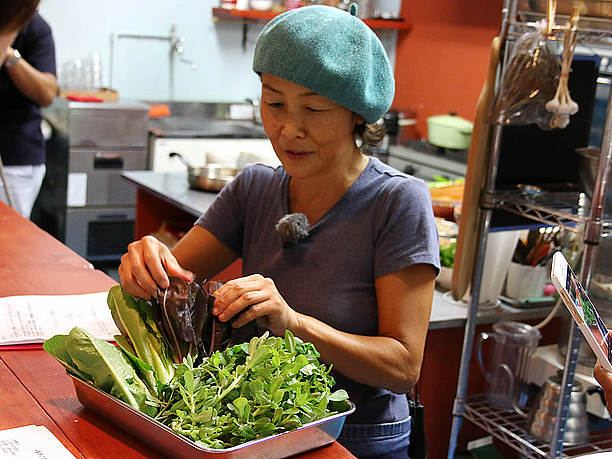 宮古島で採れたたくさんの野菜