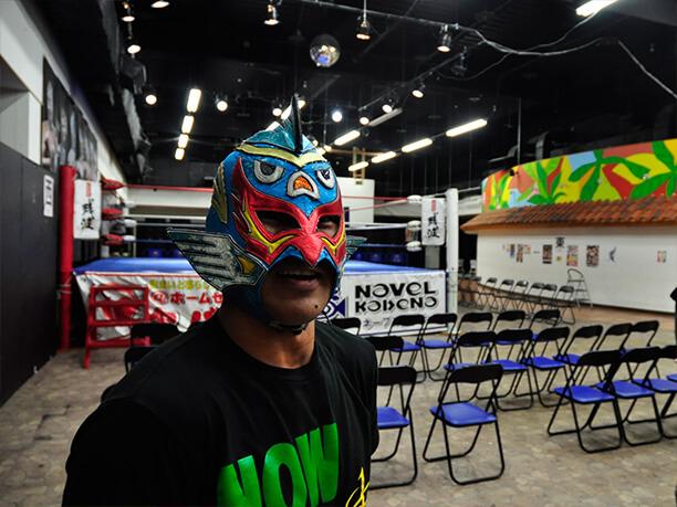 琉球ドラゴンプロレス代表のグルクンマスクさん
