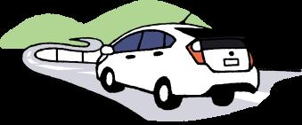 海中道路を走る車