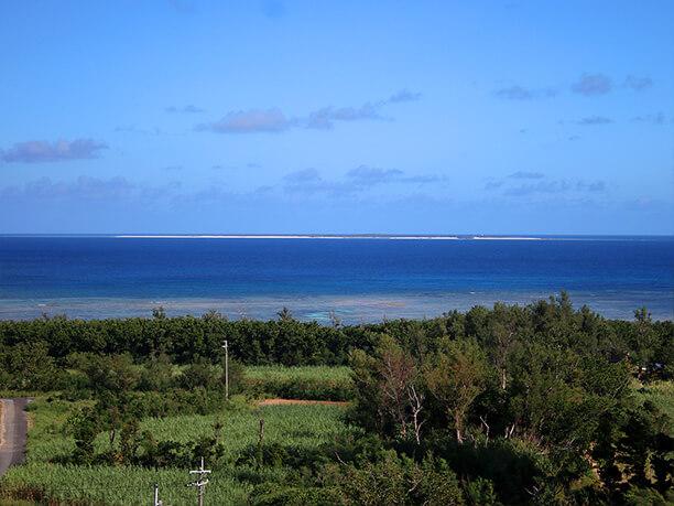 水納島も眺められる
