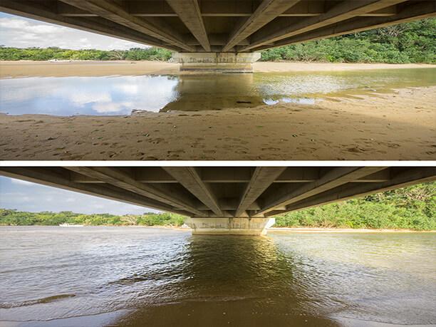 吹通橋の下