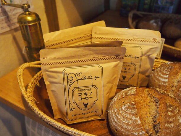 店頭に並ぶコーヒー豆