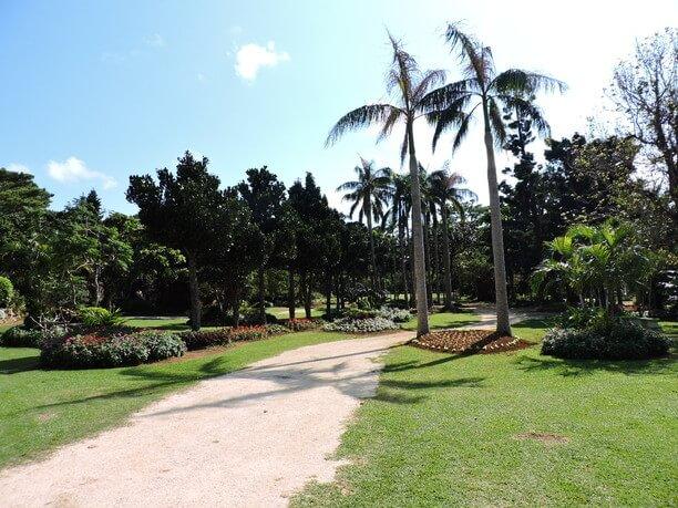 園内の遊歩道