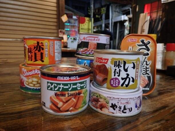 様々な缶詰
