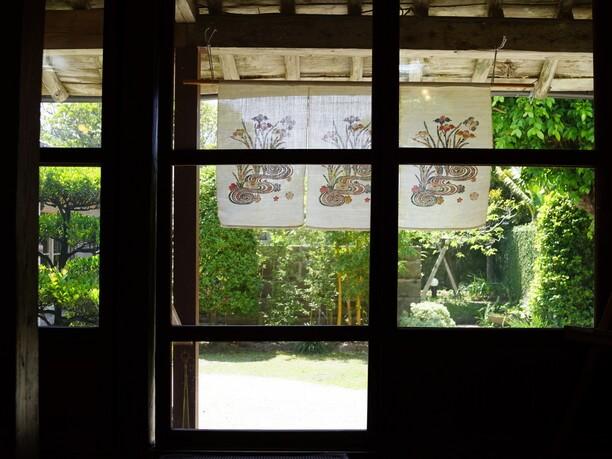 屋内から見える庭