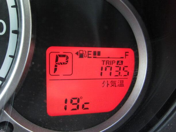 走行距離が173.5㎞と表示されたメーター