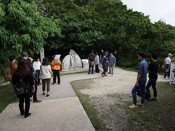 「世界遺産」の石碑