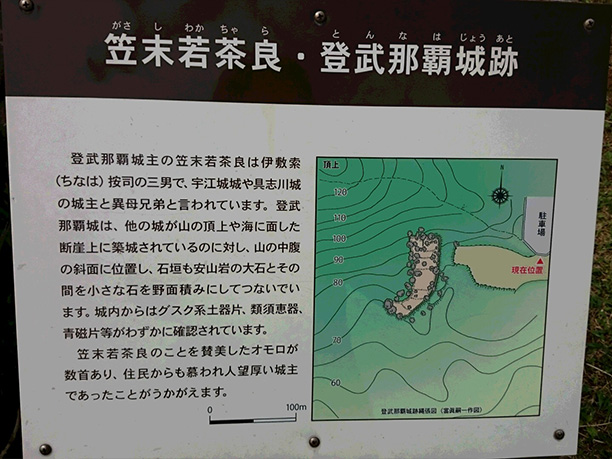 登武那覇城跡の説明とマップ