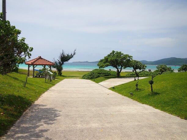 バーデハウス久米島から見えるビーチ