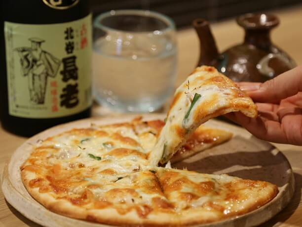 ピザに味噌