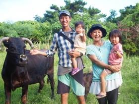 家族で牧場