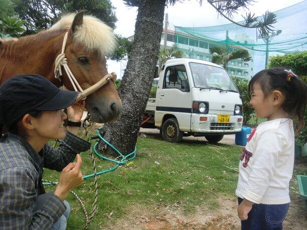 お子様も乗馬