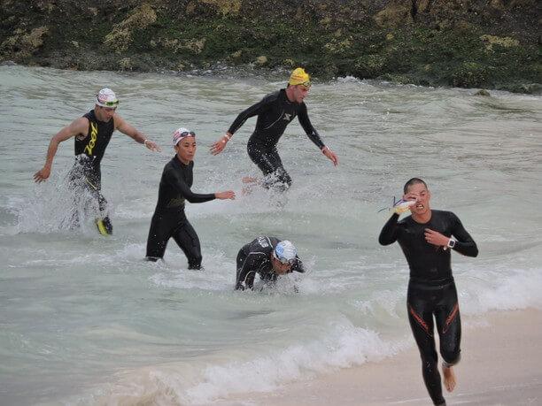 完泳した選手
