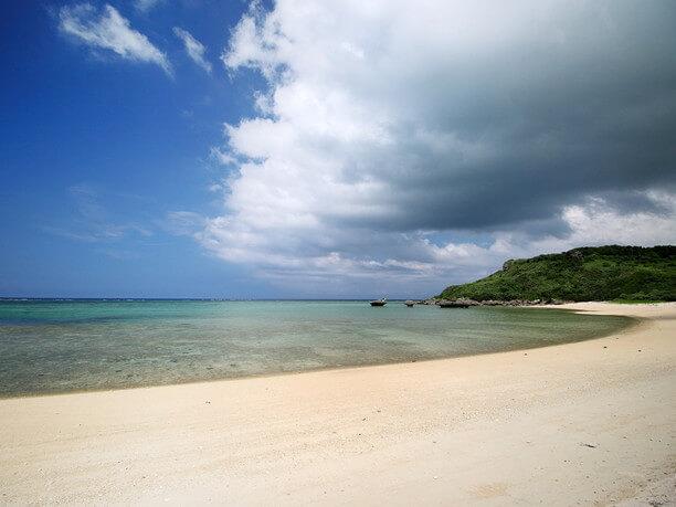 南側のビーチ