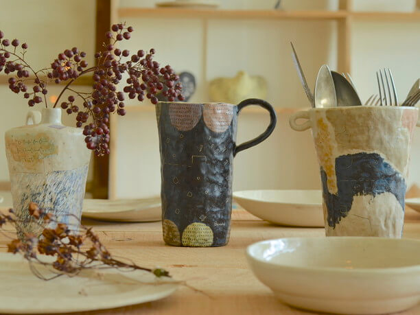 佐藤さんが作る陶器