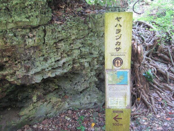 ヤハラヅカサの案内看板