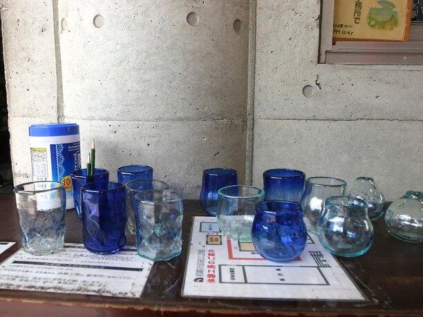 琉球ガラスのサンプル