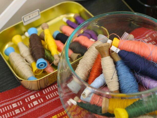 首里織で使う糸