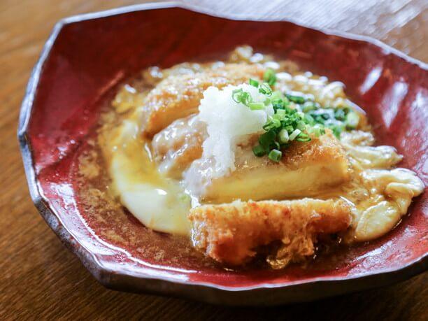 有機卵を使った豆腐のカツ煮