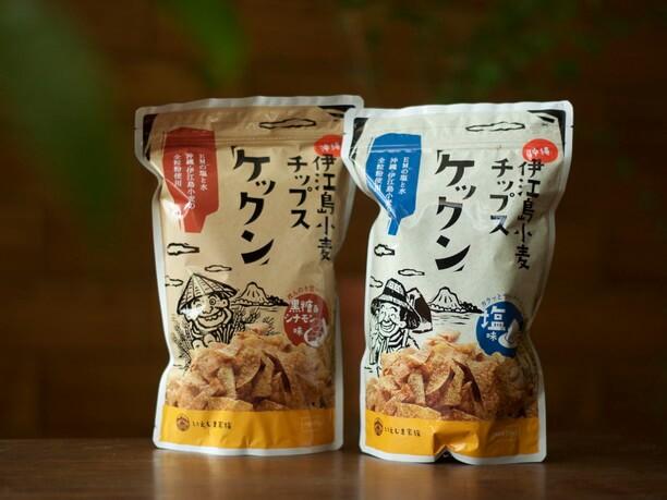 伊江島小麦チップス ケックンパッケージ