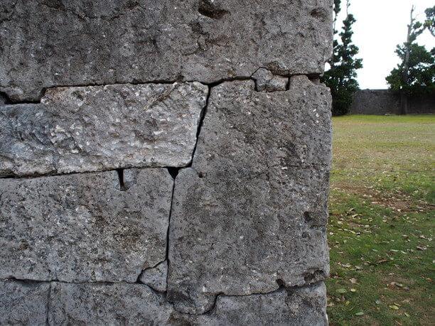 石垣のアップ